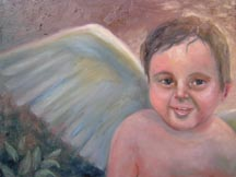 The cherub with wings