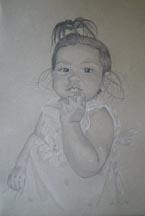 Payal Pencil Drawing