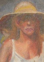 Woman w basket WIP1 detail