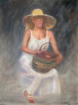 Woman w Basket WIP2