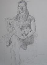 Lisa sketch closeup