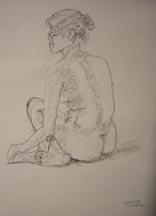 Lilibeth Andre, LA5946-022812, Charcoal on paper