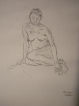 Lilibeth Andre, LA5947-022812, Charcoal on paper