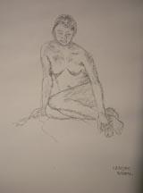 Lilibeth Andre, LA5947-022812, Charcoal on paper