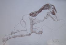 Lilibeth Andre, Sketch LA5997, Conté on paper