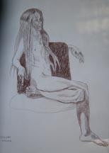 Lilibeth Andre, Sketch LA6001, Conté on paper