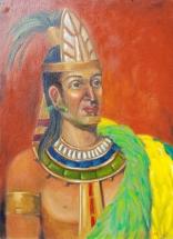 Lilibeth André, King Topiltzin, Oil, 24x18