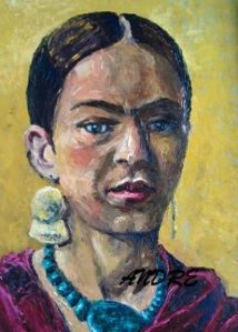 Lilibeth Andre, Yellow Frida, Oil, 16x12