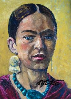 Lilibeth Andre, Yellow Frida, Oil, 16x12