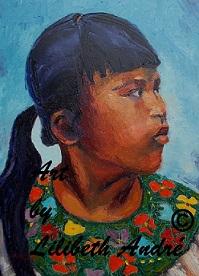 Lilibeth Andre, La Coleta, oil, 16x12