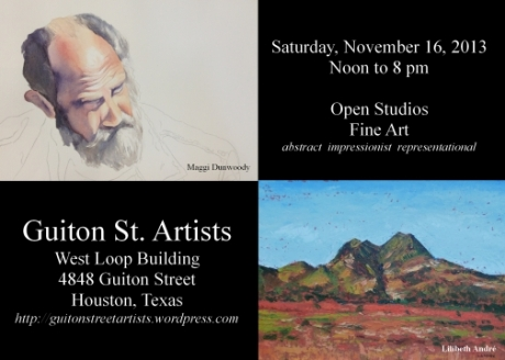 Invitation to Guiton St. Artists Open Studios