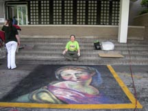 Lilibeth Andre, Channel 11 for Via Colori, An 8 foof by 8 foot square of the newly recognized last piece of work by Raphael.