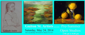 Three Artists Open Studios - May 24, 2014