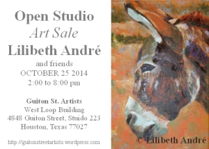 Your invitation to the Open Studio & Art Sale