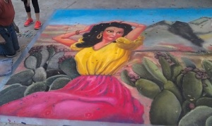2014 Alpine Artwalk Street Art, Mexican Girl (detail), Lilibeth Andre
