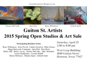 Your Invitation to the Guiton St. Artists 2015 Spring Open Studios & Art Sale