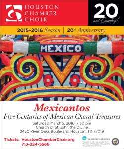 Art and Mexicantos with the Houston Chamber Choir, March 5, 2016.