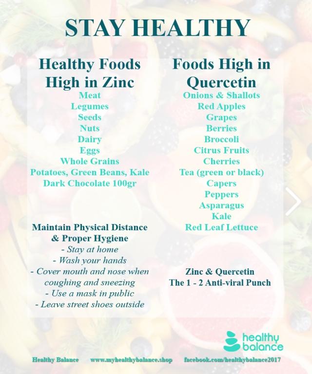 Stay Healthy Flier - Zinc Quercetin